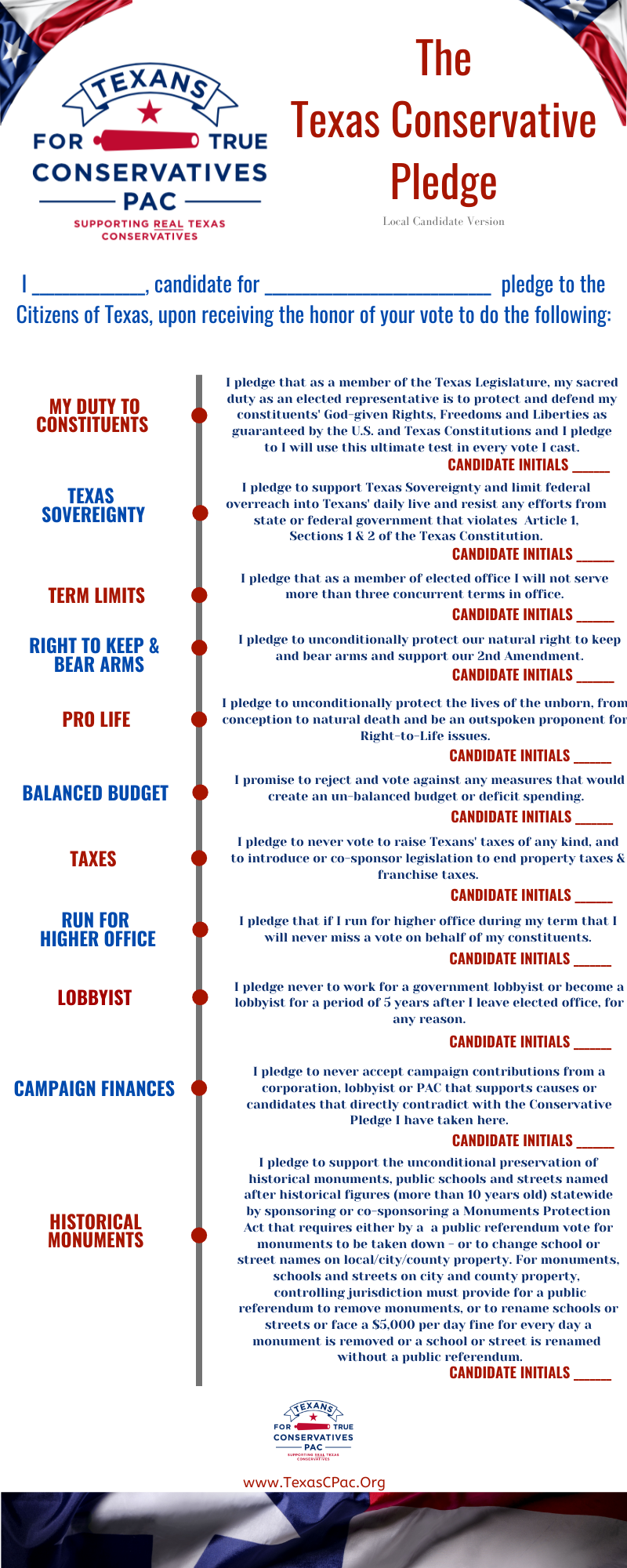 Local Government Candidate Pledge 1